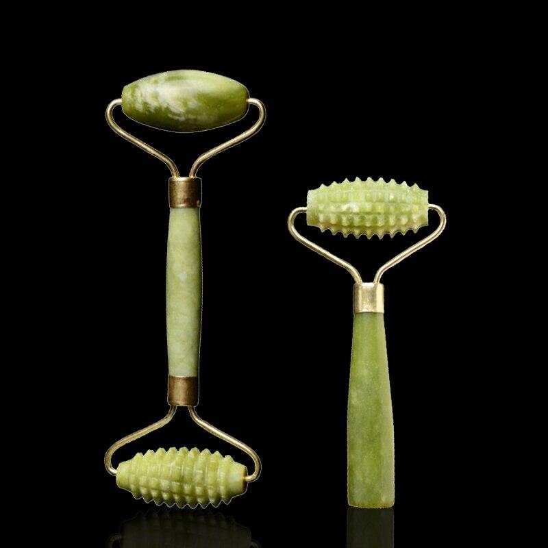 Natural Jade Roller Facial Massager Face Lift Tools Real Stone Roller Face Thin Massager Facial Massage Roller Skin Care Tool