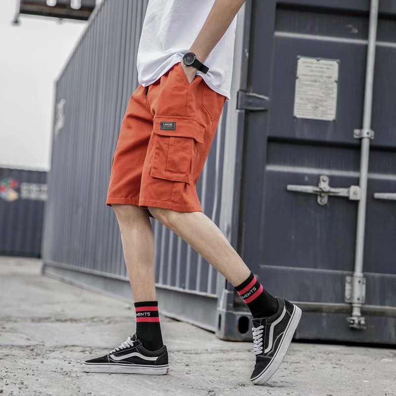 Japanese-style Street Fashion Workwear Shorts Summer Korean-style Teenager Loose-Fit Shorts Men's Shawn