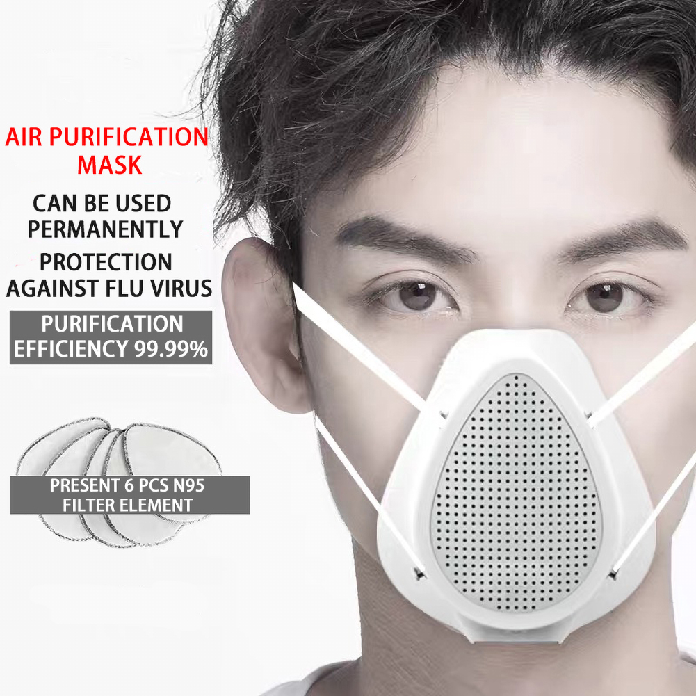 Electric Mask Respirator Dust Mask With Activated Carbon Filter Replacements Half Face Dust Respirator Air Purifying Mask