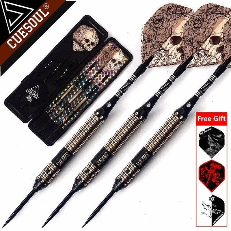 New CUESOUL 23g 25g 27g Professional Steel Tip Darts Black Dart Body With Dart Flights