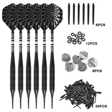 High quality professional 20g soft dart, soft dart head, copper bar, aluminum shaft, 6 pieces, 1 set