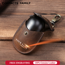 For Galaxy Earbuds+ 2020 Genuine Leather Case for Samsung Galaxy Buds Case Keychain Protecive Cover Charging Soft Ecouteur Coque