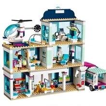 Друзья город Heartlake больница скорая помощь блок набор Принцесса поп звезда Livi дом совместим с Legoinglys друзья игрушки для девочек