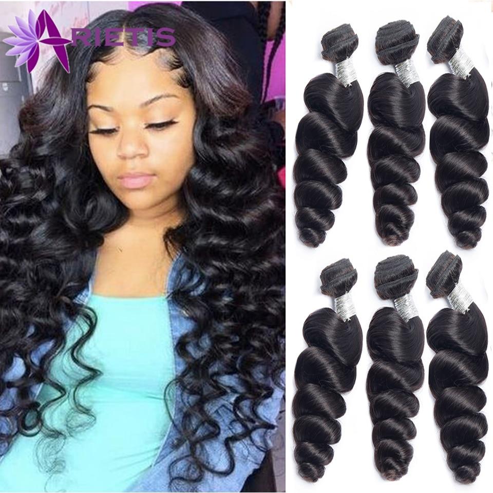 Arietis Loose Wave Bundles Peruvian Hair Bundles Human Hair Extensions 1/3/4 Bundles Deals Remy Hair Weave Bundles Weft Hot Sale