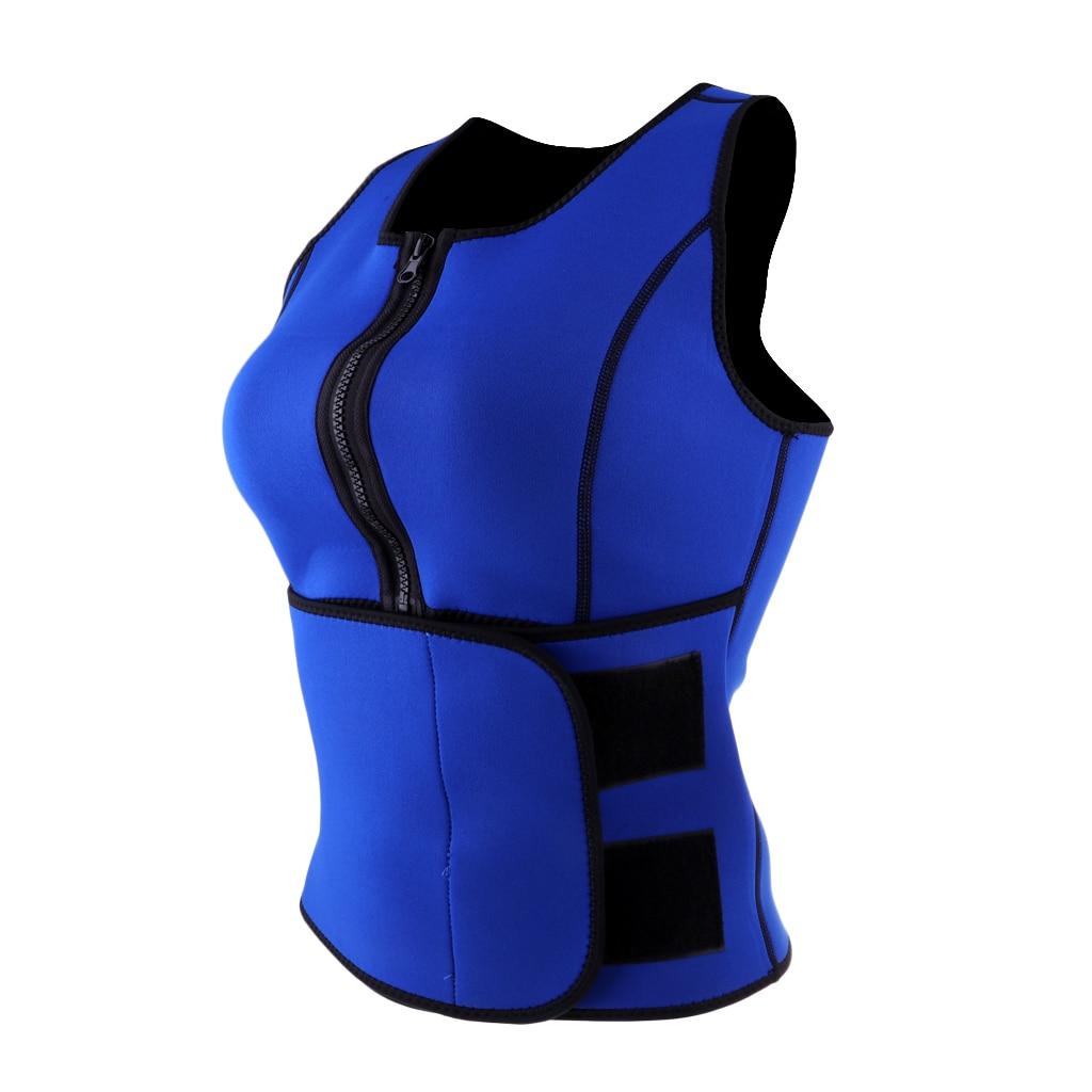 Neoprene Women Hot Sweat Body Shaper Vest Heat Yoga Sauna Fat Waist Shaper Trainer Cincher