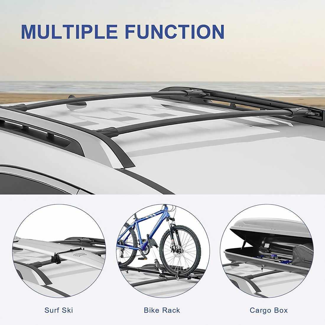 sanjods roof rack cross bar rail compatible for chevy equinox gmc terrain 2010 2011 2012 2013 2014 2015 2016 2017 cargo racks