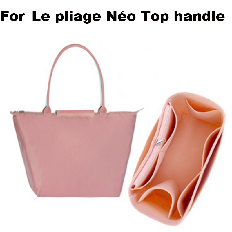 For Le Pliage Néo Top Handle Luggage Bag Shaper Purse Insert Makeup Travel Inner Purse Portable Cosmetic Bag Organizer-3MM Felt
