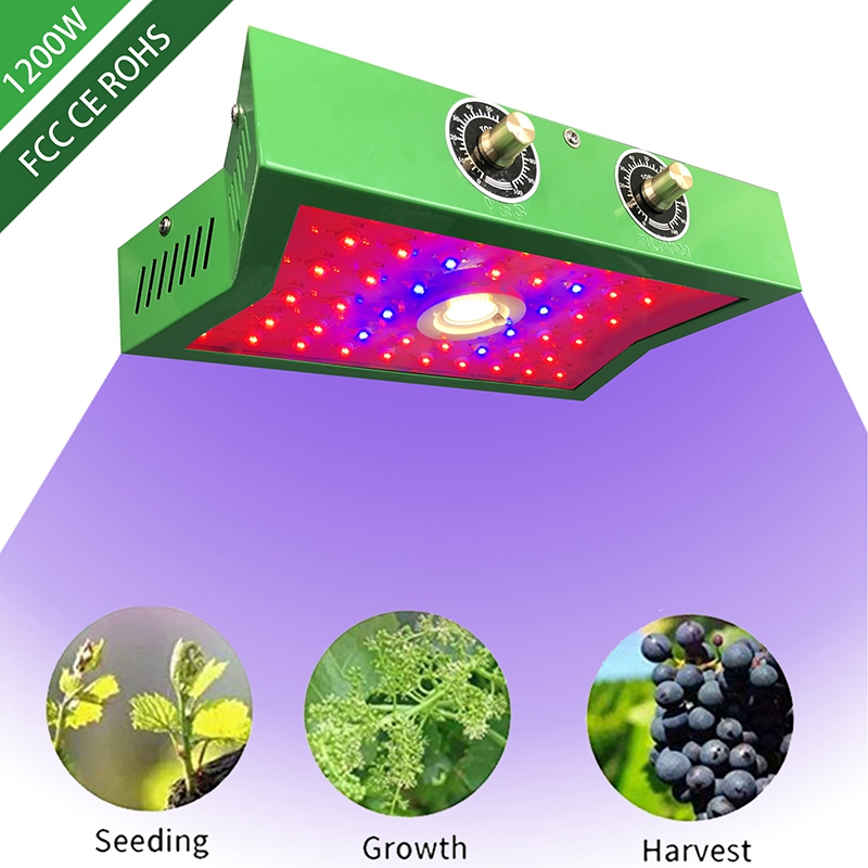 LED Plant Growth Lamp 1200W Full Frequency Indoor Greenhouse Planting Tent Plant Growth Led Adjustable Light Source Lamp