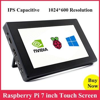 Raspberry Pi Touch Screen 7 inch IPS Capacitive Display 1024*600 LCD + Case Bracket for Raspberry Pi 4B 3B Jetson Nano Windows