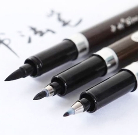 3pcs/Lot chinese calligraphy brush pen for signature Drawing art marker Stationery school supply art set ACS027