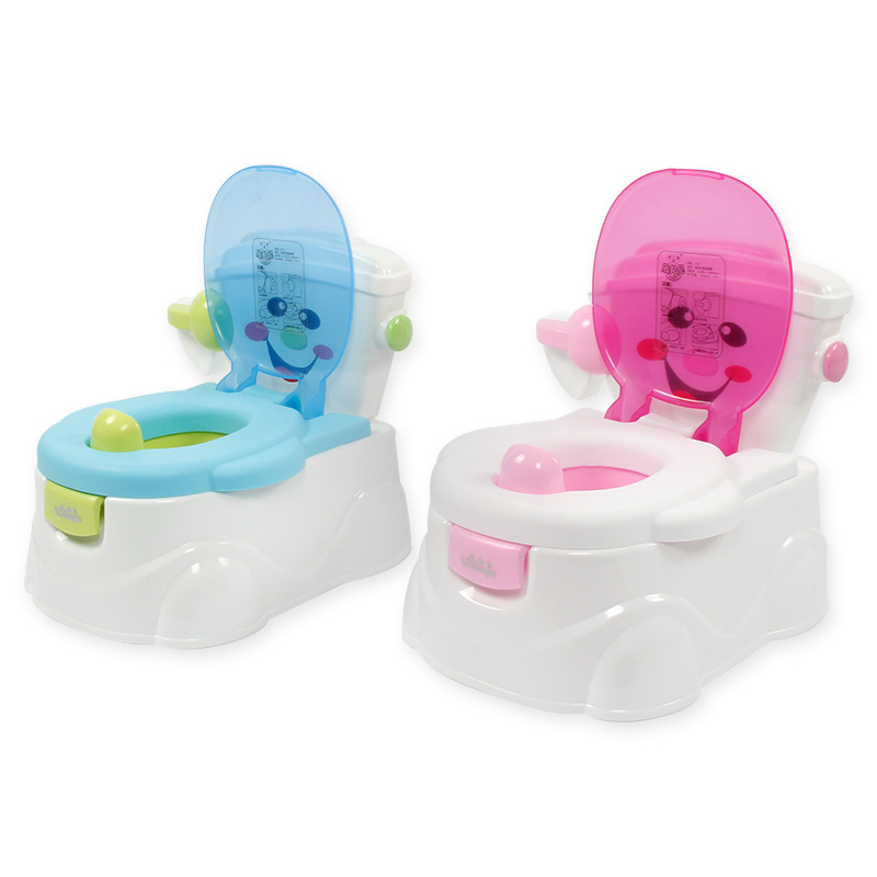 Cartoon Model Men And Women Baby Toilet Smiley Anti-slip Chamber Pot Infants Toilet For Kids