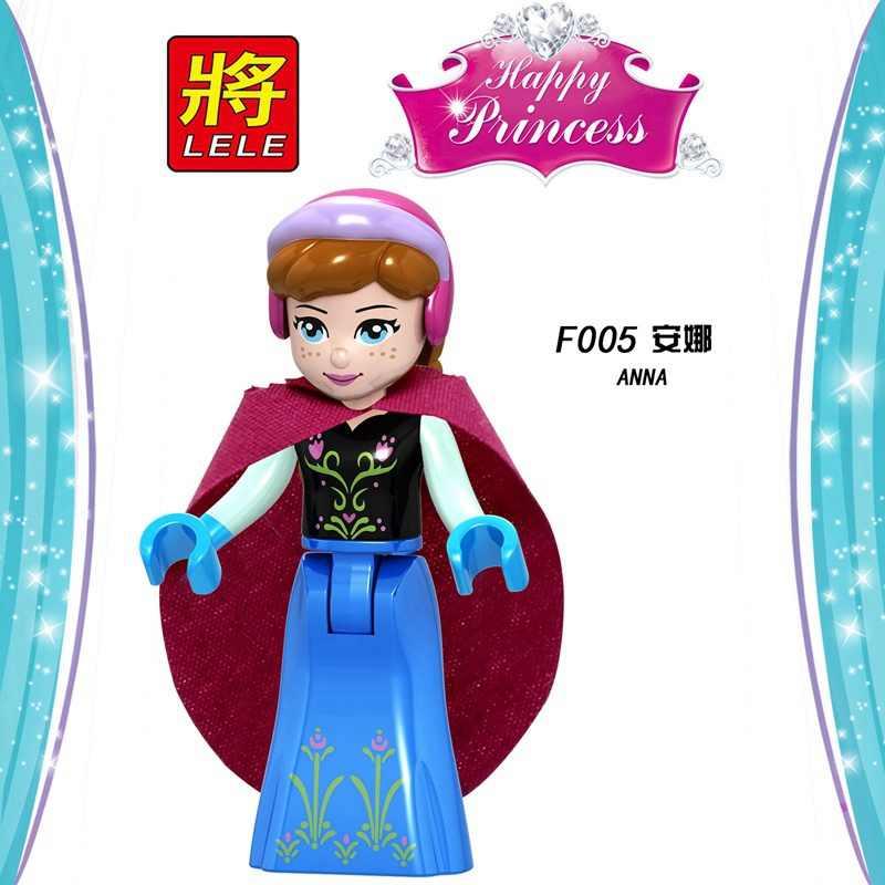Legoing przyjaciele Elsa Belle Anna zabawki zabawki dla dzieci dla dzieci książę kopciuszek księżniczka bestia figurki bloki Model dziewczyna Legoing rysunek