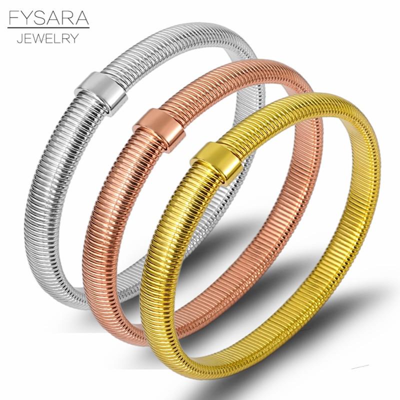Bracelets Bangles Rose Gold Color