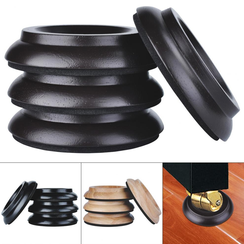 4pcs/lot  Solid Wood Vertical Piano Mats Foot Caster Cups Soundproof Shockproof  Moistureproof With EVA Mat Black / Brown / Wood