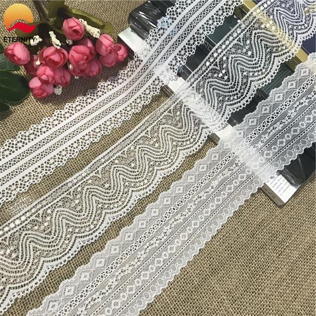 ! Toalha de mesa de malha multicolorida, 5-6cm, branco, de algodão puro, acessórios de costura, artesanal faça você mesmo fluxo de cortina