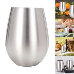 נירוסטה יין זכוכית מחוסמת מתכת ויסקי מים כוס מדיח כלים בטוח ויפה קישוט מראה אלגנטי