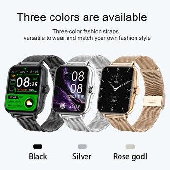 GEJIAN Smart Watch Men Women Bluetooth Call Smartwatch ECG Fitness Tracker Waterproof 1.69 inch touch screen For Android iOS 6