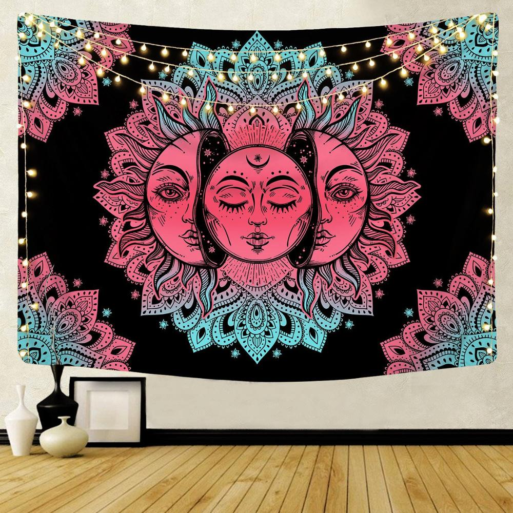 Witchcraft Tarot Tapestry Psychedelic Wall Hanging Carpets Polyester Fabric Hippie Boho India Decor Gypsy Mandala Blankets