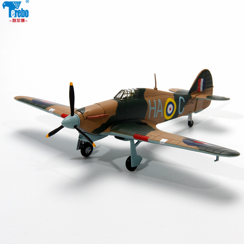 "24 DIE CAST /"" HAWKER HURRICANE /"" WW2 AIRCRAFT COLLECTION FIGHTER 1//72"