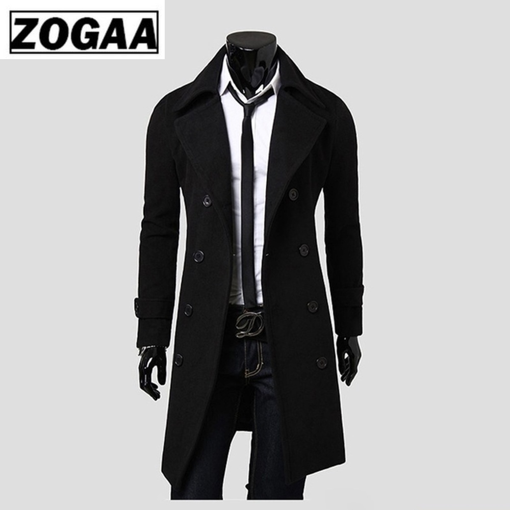 Zogaa 2019 Autumn and Winter New Men 39 s Fashion Boutique Solid Color Business Casual Woolen Fashion Designer Men Long Coat in Wool amp Blends from Men 39 s Clothing