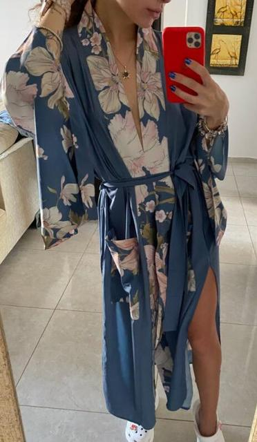 Flower Print Kimono Shirt  5