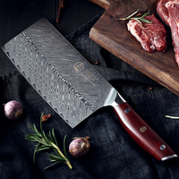 YARENH 7 Inch Cleaver Knife Chinese Vegetable Kitchen knives 67 Layers Damascus Chef Professional Cooking Knife Rosewood Handle
