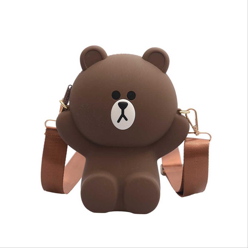 Bolsa De Urso De Desenho Para Celular Bolsa Pequena De Desenho Animado Com Corrente Diagonal Mochilas De Pelucia Aliexpress