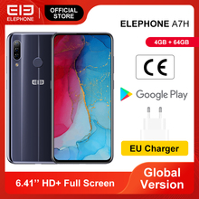 Còn Hàng ELEPHONE A7H Điện Thoại Thông Minh 4GB 64GB Helio P23 Octa Core Màn Hình 6.4 13MP Ba Phía Sau Máy Ảnh android 9.0 3900MAh