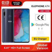 In Lager ELEFON A7H Smartphone 4GB 64GB Helio P23 Octa Core 6.4 Bildschirm 13MP Triple Hinten Kameras android 9,0 3900mAh Batterie