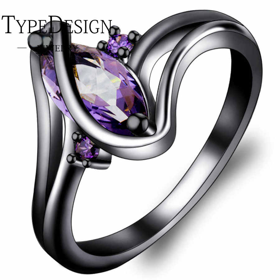4 สี Hot Curve Alien แหวนสีเขียวขนาดใหญ่สีม่วง BlueZircon Hyperbole ผู้หญิงนิ้วมือแหวนสำหรับเครื่องประดับของขวัญ 6-10