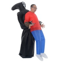 Funny scary props Halloween funny whole person costume old style ghost hug people inflatable suit party decorations pikaalafan giant inflatable toys halloween easter funny doll inflatable props terror ghost hug people inflatable clothes cosplay