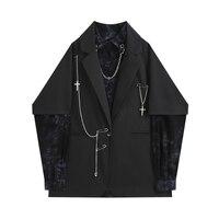 2021 frühling Herbst Koreanische Vintage Gothic Blazer Frauen Casual Übergroßen Weiblichen Anzug Jacken Harajuku Outwear Mode Kleidung