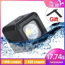 Ulanzi L1 Wasserdichte Mini LED Licht mit Farbe Gel Kamera Dimmbare Lager für Canon Nikon Drone Osmo Action Tasche DSLR gopro 6 5