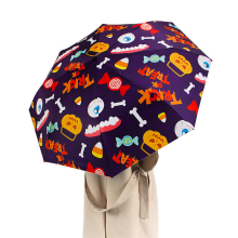 Cute Cartoon Full Automatic Sun Umbrella Dual-purpose Folding Femal UV Protection Girls Umbrellas for Gift Holiday
