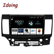 Автомобильный мультимедийный плеер Idoing, 10,2 дюйма, 4 Гб + 64 ГБ, Восьмиядерный, Android, Авторадио, подходит для Mitsubishi Lancer 2010 2016, 2.5D, IPS, GPS навигация
