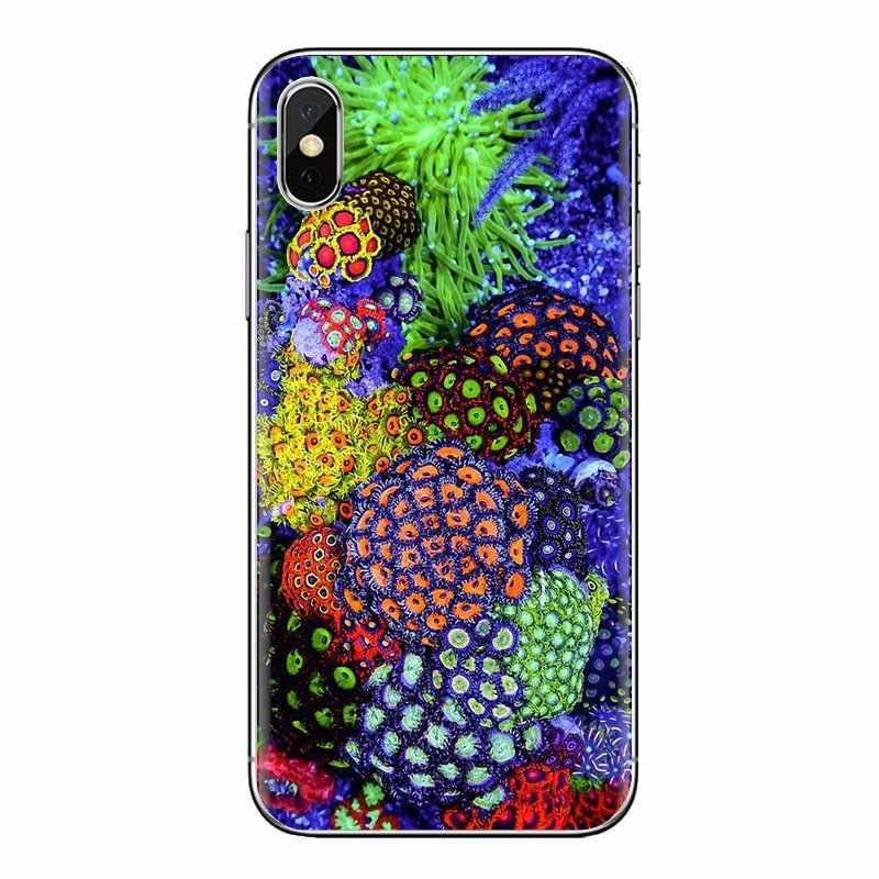 Soft Cover Per Huawei Honor 7X V10 6C V9 6A Gioco 9 Compagno 10 Pro Y7 Y5 P8 P10 Lite più GR5 2017 Pastello Coral Reef nel mare profondo