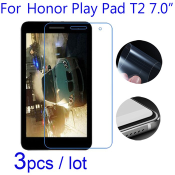 3pcs/lot Soft Clear/Matte/Nano Anti-Explosion Protective Films for Huawei Honor Play Pad T2 7 7.0inch Tablet Screen Protectors image
