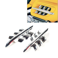 цена на Chrome Shark Gills Fairing Accents For Honda Goldwing GL1800 2001-2010 07 08 09
