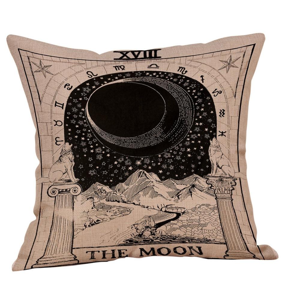 Fodere Per Cuscini Divano.Sole Star Luna Fodere Per Cuscini Hippie Decorativo 100 Di Lino