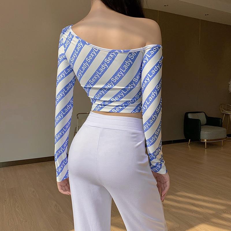 Купить футболка женская базовая на одно плечо пикантный укороченный