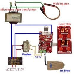 100A lcd цифровой точечный сварщик время и текущий контроллер точечная сварочная машина трансформатор контрольная плата NY-D04