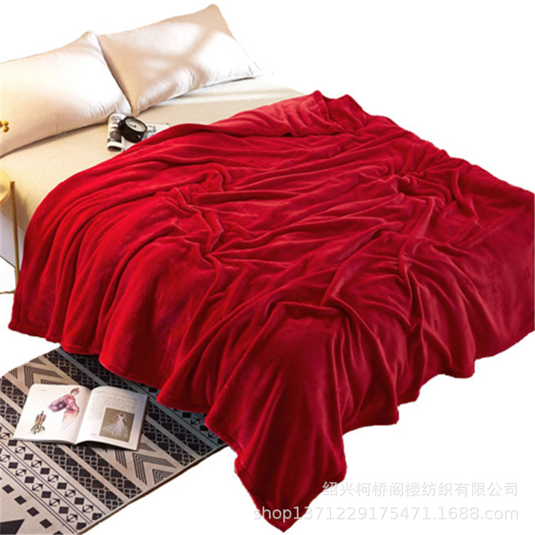 Manufacturer Currently Available Direct Flannel Blanket Coral Fleece Bedsheet A Large Amount Supply