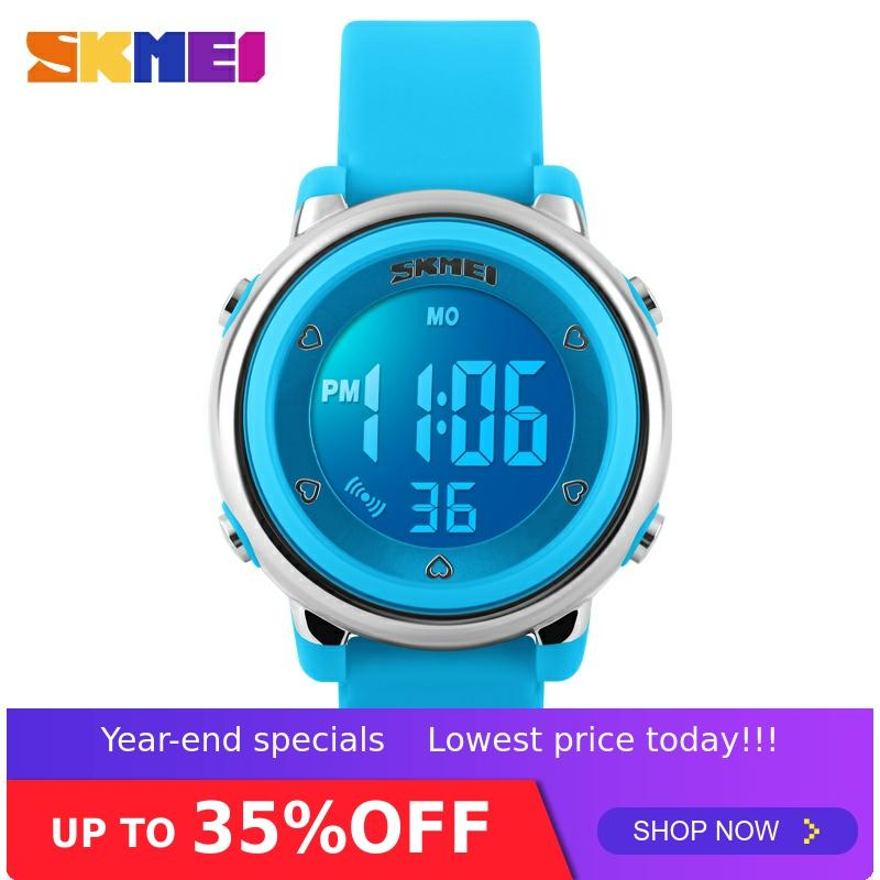 SKMEI Children's Watch LED Digital Sports Relojes Mujer Boys Girls Fashion Kids Cartoon Clock Waterproof Relogio Masculino 1100