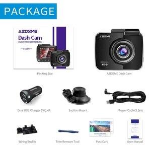 Image 5 - AZDOME GS63H araba çizgi kam 4K 2160P Dash kamera çift Lens dahili GPS DVR kaydedici Dashcam WiFi g sensor döngü kayıt