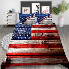 Thumbedding American Flag Bedding Set King Retro Classic Duvet Cover Queen Soft Twin Full Single Double Unique Design Bed Set
