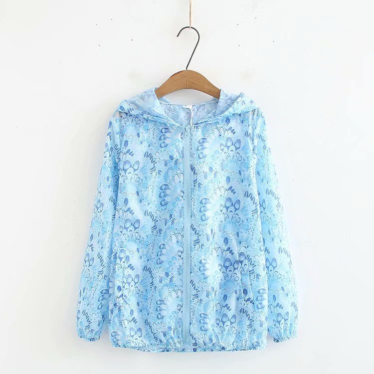 J4 Spring And Summer New Style 2019 Large Size Dress Plus-sized Increase The Fat Mm Thin Breathable Cardigan Hooded Coat 667