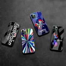 Eurovision Song Contest Telefon Fall Gehärtetes Glas Für iPhone 12 Pro Max Mini 11 Pro XR XS MAX 8X7 6S 6 Plus SE 2020 abdeckung