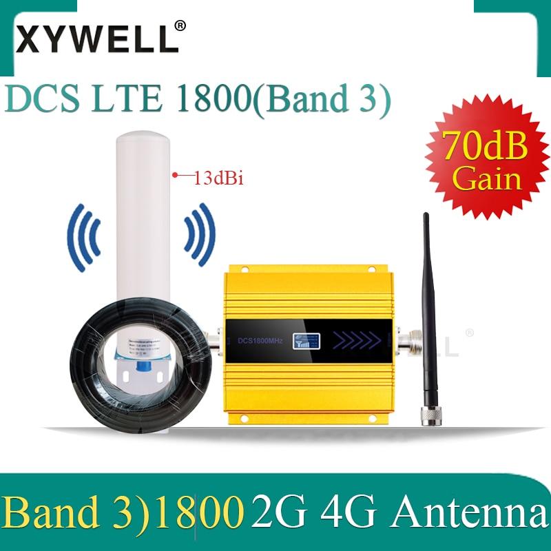 1800 gsm signal booster DCS LTE 1800MHZ 4G cellular Mobile signal Booster GSM 1800 2G 4g Cellphone Cellular Amplifier 4G Antenna
