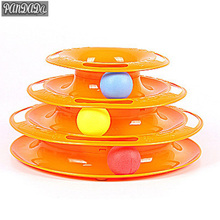 panDaDa Balls Cat Toys Intelligence Toys Plastic Disc Triple Play Cat Toy Orange Interact Top Dog Toys YY yy 6605 car cleaner blue orange