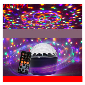 Night Light Mini Stage Light Bluetooth Remote Control USB Charging Crystal Magic Ball Lamp KTV  Family Party Flashlight Colorful цена 2017